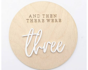 Then there were three baby plaque