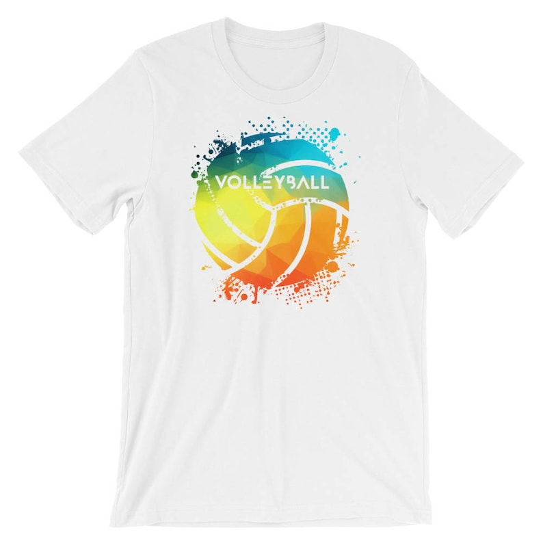7e3aadff Men's Indoor Or Beach Volleyball Colorful Rainbow Splash | Etsy
