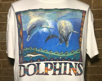 38fb8bc78 Vintage 90's Earth-watch Dolphins T-Shirt Size L Large