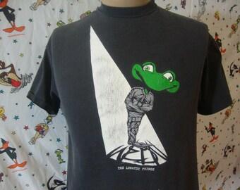 e95fd7365cc Vintage 90 s The Lunatic Fridge Skateboard Tee Black T Shirt Size L Large