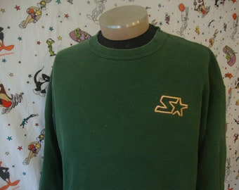 cd22b111e7298 Vintage 90 s STARTER Green Crew Neck Sweatshirt Size XL