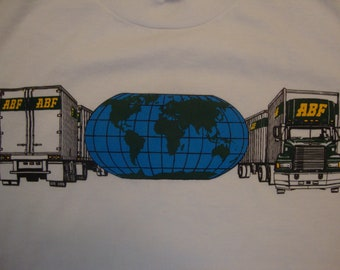 0736c8e8 Vintage 80's ABF Truck Company White T Shirt Size M