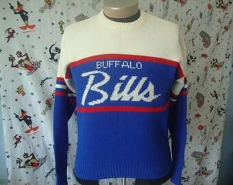 Vintage 90 s Buffalo Bills NFL Cliff Engle Sweater Size L acdb09c39