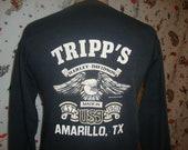 Vintage 80 39 s Harley Davidson Motorcycle Amarillo Texas 1982 Holoubek Biker MC Long sleeve shirt light sweatshirt Size M