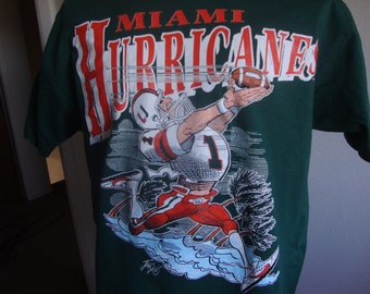 Miami Hurricanes Football Tee Long Sleeve Youth T-Shirt NCAA Kids Sizes