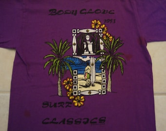 a79e9ef1f8109 Vintage 90 s Body Glove Surf Classics Surfing Purple T Shirt Size M