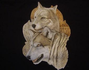 Red Rose Wolf Draw Retro Funny Men Women Unisex Top Hoodie Sweatshirt 1577
