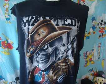 Tee Hunt Outlaw Forever Muscle Shirt Born to Ride MC Chopper
