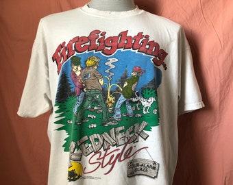 90s I Speak Fluent Redneck Muscle t-shirt Large