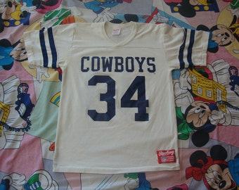 dc438f01b64 Vintage 80's NFL Dallas Cowboys Herschel Walker Rawlings Brand Jersey Shirt  Adult size S
