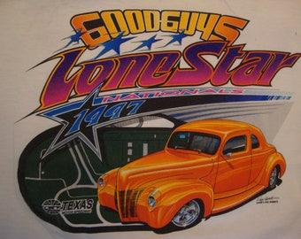 b1a774aca Vintage 90's Good Guys Lone Star Nationals 1997 Hot Rod goodguys car club  White T Shirt Size XL