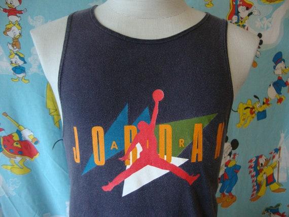 Vintage 90's Nike Air Jordan Gray Tag t shirt Tank