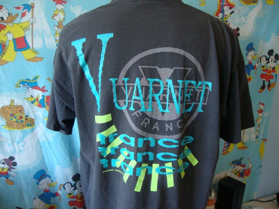 Vintage 90's Vuarnet France black 1991 T-Shirt Siz