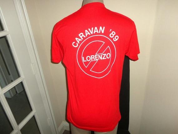 Vtg 80/'s Red Anti Lorenzo Boycott Continental Airlines 50-50 Tshirt Fits L RARE