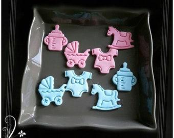 Baby accessories, Fondant, Fondant decoration, Cake decorations, Cake decorations, Muffin topper, Caketopper, Cake decoration, Cake topper, Cake topper, Cake decoration