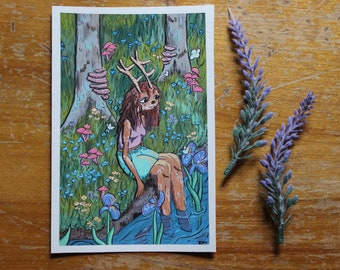 Inktober Originals Witchy Gouache Paintings Group 5