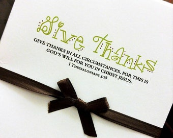 Give Thanks Bible Verse Note Cards - Set of 10
