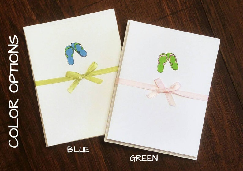 888a20573 Flip Flop Greeting Cards Set of 10   Sandals   Summer Cards