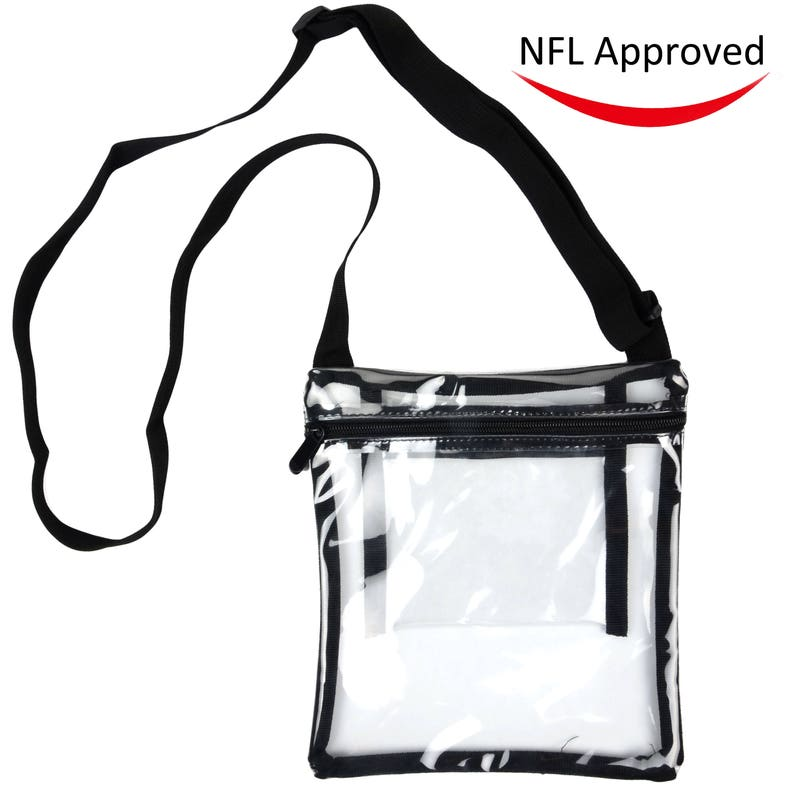 da4288cbe8a7 Deluxe Clear Cross-Body Purse , NFL and PGA Stadium Approved Clear Vinyl Bag