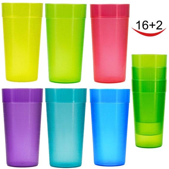 20 Oz Plastic Tumblers Cafe Break Resistant Drinking Glasses Etsy