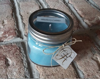 Blueberry Cobbler Soy Candle/Non-Toxic/Vegan Friendly/Cruelty Free/Cotton Lead/Zinc Free Wick