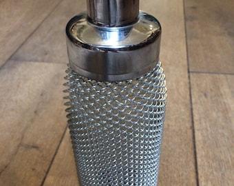 Mid Century Wire Mesh Glass Cocktail Shaker - Barware