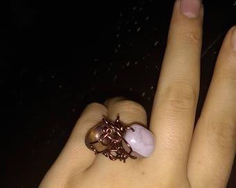 Handmade Amethyst Wire Wrapped Ring