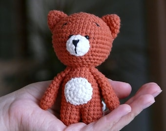 Knitted toy fox for Christmas holidays/Amigurumi/Fox/Fox toy/Knitted toys/Knit toys/Knit fox/Knitted fox/Toy fox/Amigurumi fox/Fox plush