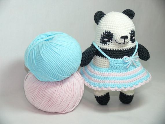 Panda Tricoté Pica Pautricot Jouetstricot Jouetpica Etsy