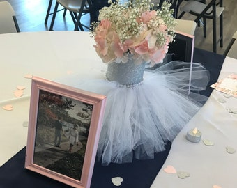 bridal shower centerpiece vase