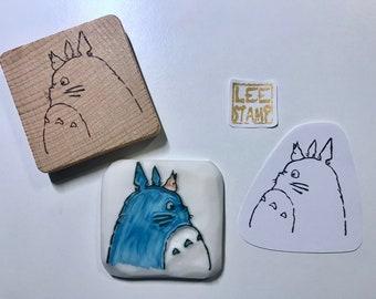 My Neighbor Totoro Rubber Stamp / Eraser Stamp / Handmade Stamp / Handlettering Stamp / Illustration Stamp / Handcarved Stamp