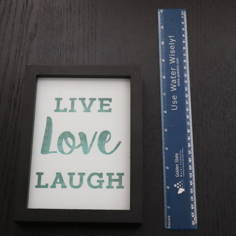 Vintage Frame Live Love Laugh Inspirational Classic Motivational Picture Words Wall Home Decor