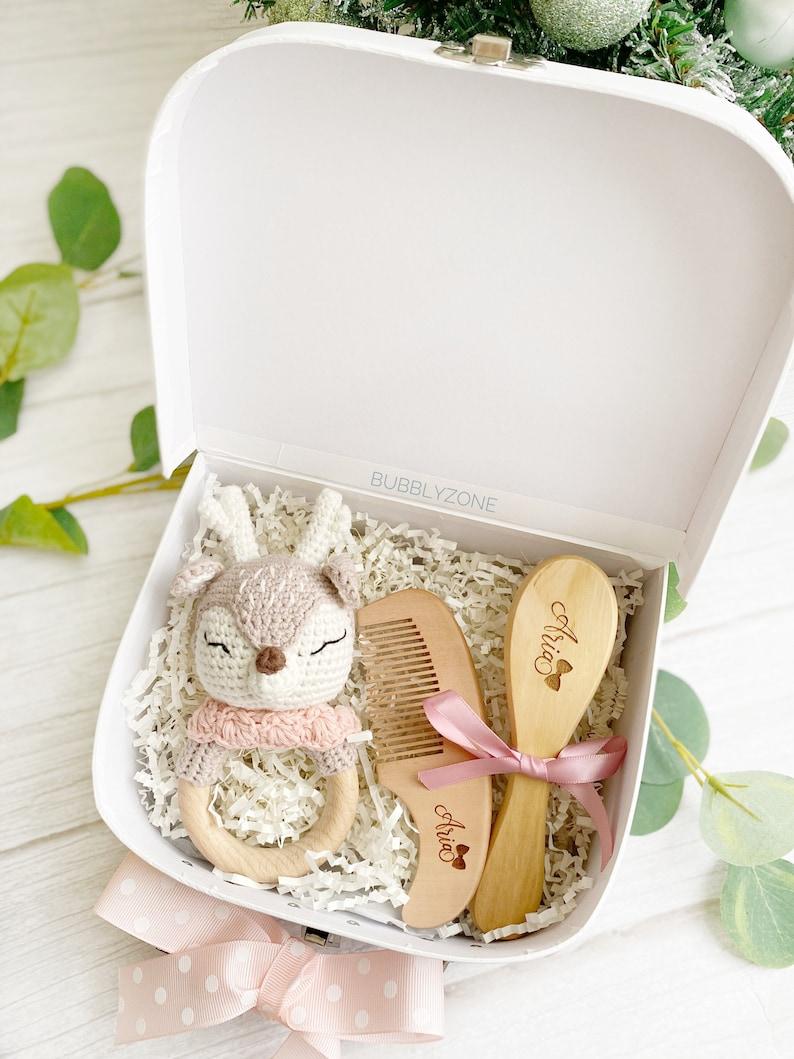 Baby Shower Gift Hamper Box/ Baby Teether and Brush set/ Baby image 0