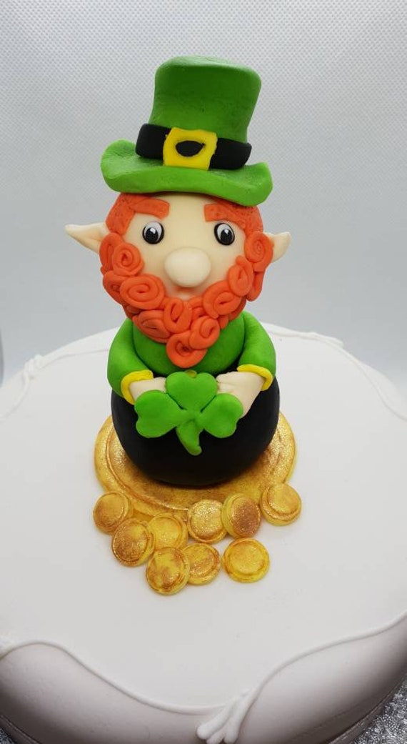 Small or Large edible icing topper Leprechaun Cake topper