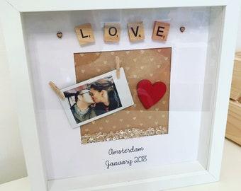 Personalised 'Love' mini photo frame