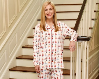 e1481c6a71 Women s Monogrammed Nutcracker Christmas Pajamas - ORGANIC cotton