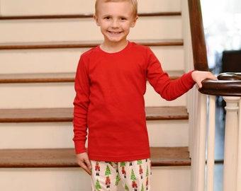 Boy s Monogrammed Nutcracker Christmas Pajamas - ORGANIC cotton 480517060