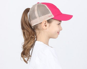 3bbbb2f9644 Youth Top Knot Hat - Girls Pony Tail - Youth Messy Bun Hat