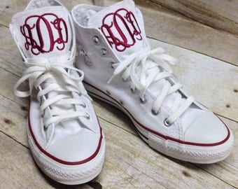 7d9db0e4aa250e Monogrammed Hi Top Converse - Chuck Taylors - High Top Converse - Monogrammed  Shoes - Men and Women