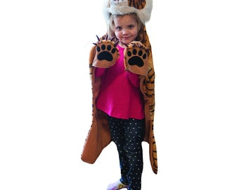 Tiger Dress Up Costume - Tiger Disguise - Tiger Play Costume