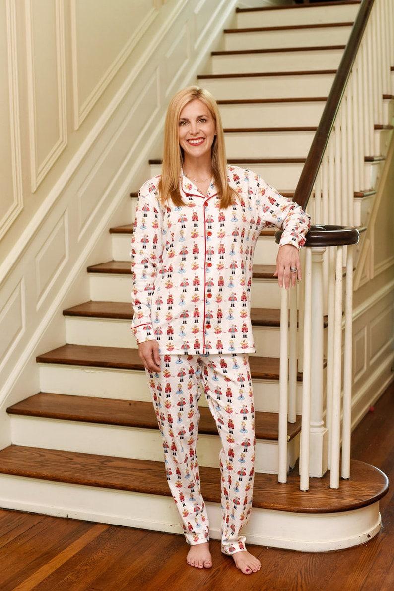Women s Monogrammed Nutcracker Christmas Pajamas ORGANIC  5f9208f62
