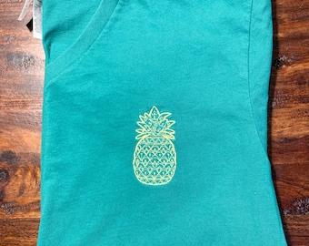 Pineapple V Neck T-shirt - IVF IUI Infertility Shirt - Bella Canvas Pineapple Tshirt