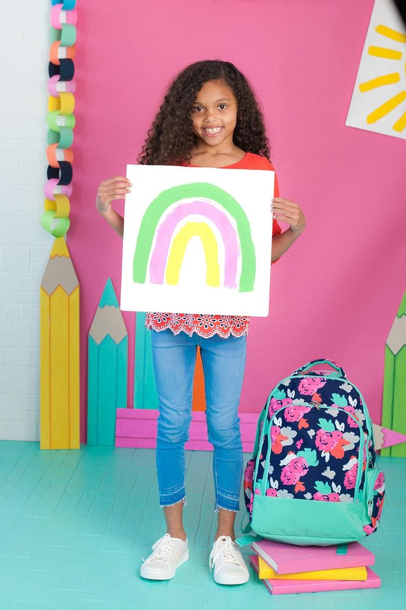Amelia Backpack Back to School Monogrammed Bookbag