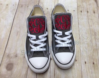 Monogrammed Converse - Chuck Taylors - Low Top Converse - Monogrammed Shoes - Men and Women