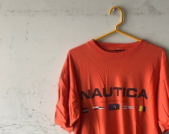 ba6766460ba30 90s Nautica T Shirt   Vintage 1990s Nautica Boating Tee Retro Top