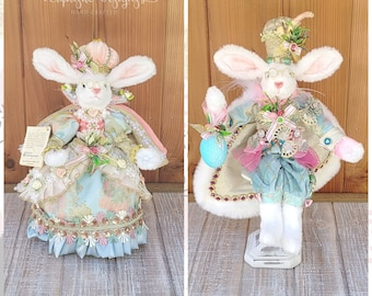 Easter Bunny, Easter Décor, Mark Roberts Collectibles, Spring Décor, Bunny Décor, Mark Roberts, Easter Table Top Décor, Wreath Embellishment