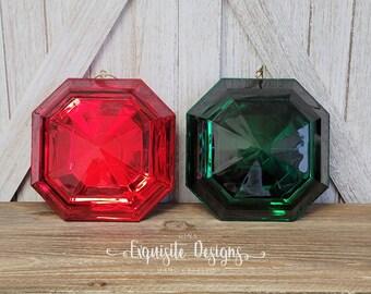 Gem Christmas Ornament, Jewel Ornament, Christmas Ornament, Christmas Décor, Christmas Tree Décor