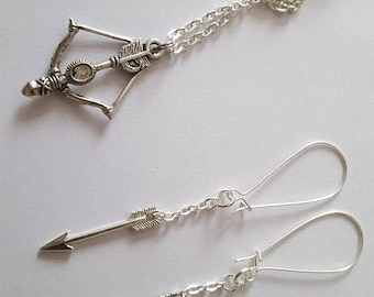 Carmilla Summer Society Pendant and Earrings