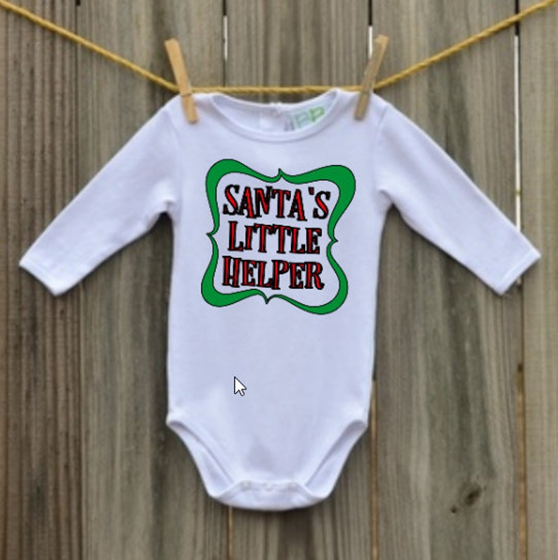Santa/'s Little Helper Christmas Holiday Onesie Toddler shirt