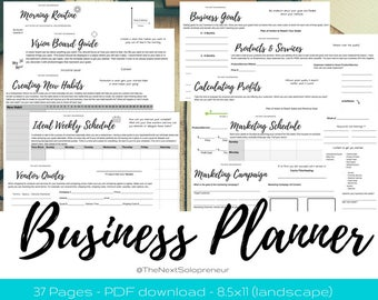 Small Business Planning, Home Business Planner, Planner for Business, Entrepreneur Planner, Business Planner, Printable Business Plan